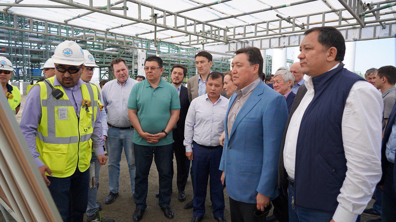 Askar Mamin visited Tengiz field, several oil and gas