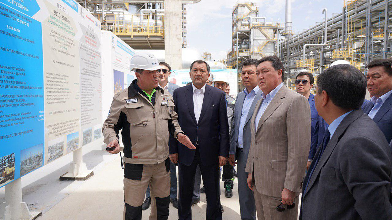 Askar Mamin visited Tengiz field, several oil and gas projects and