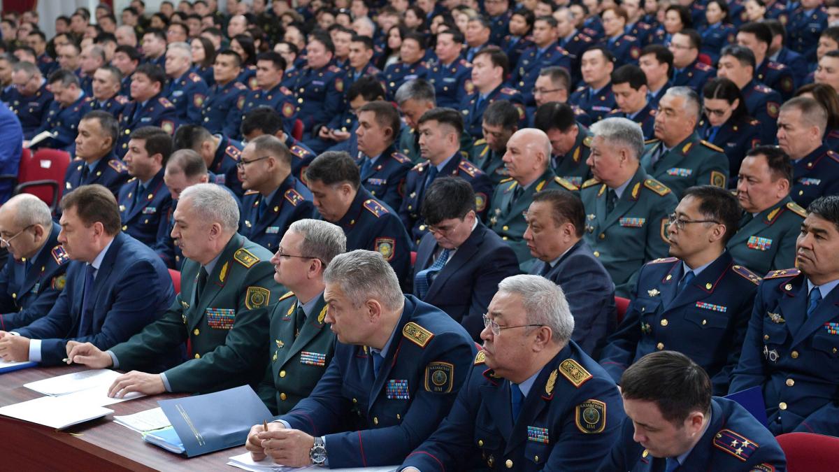 Президент Казахстана Касым-Жомарт Токаев принял участие в расширенном заседании коллегии Министерства внутренних дел