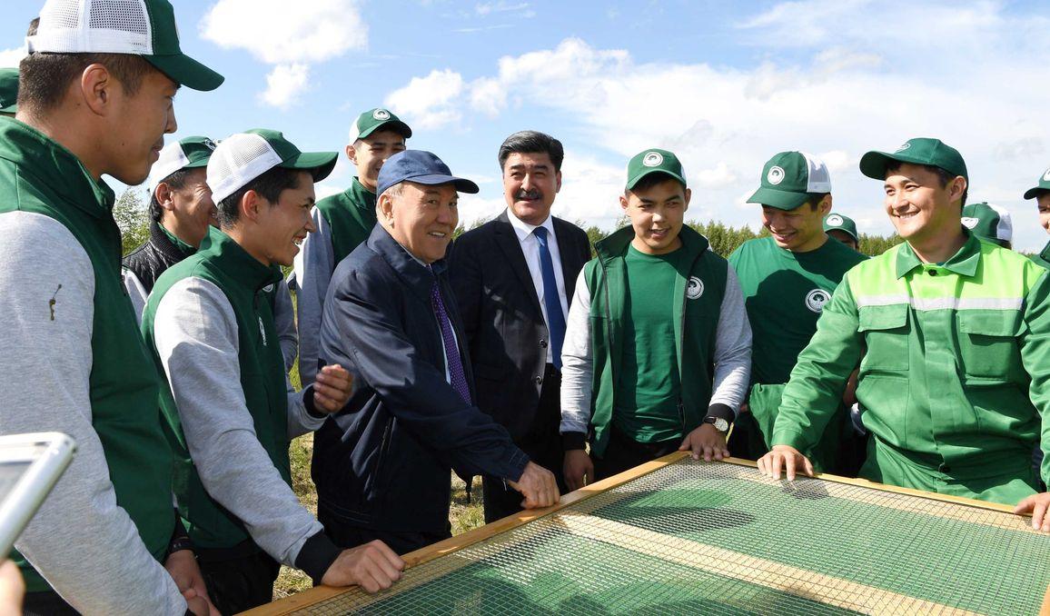 Глава государства посетил объекты «зеленого пояса» Астаны