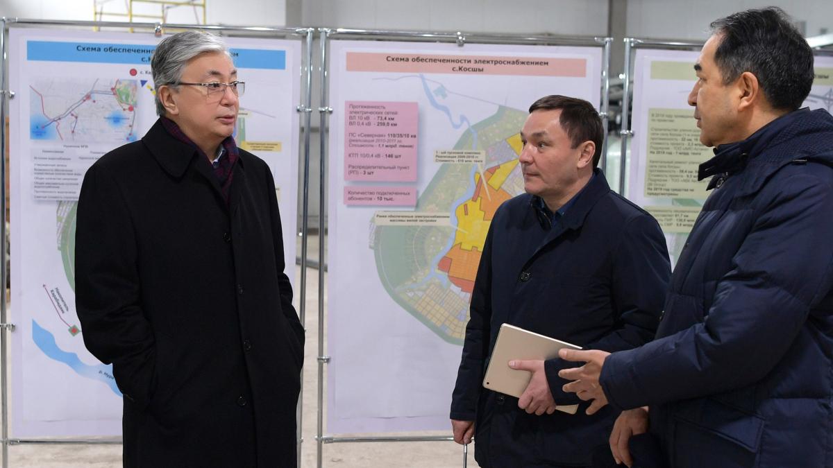 Глава государства Касым-Жомарт Токаев посетил село Косшы