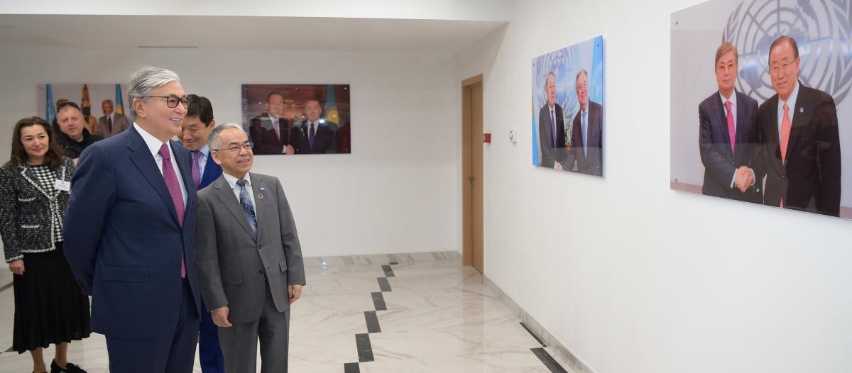 Президент РККасым-Жомарт Токаев посетил новый офис ООН в Алматы
