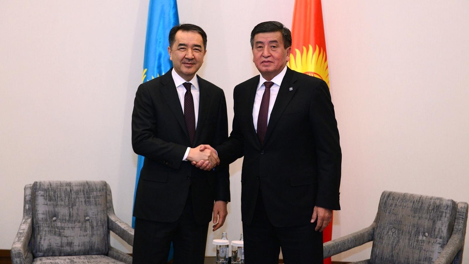 Бакытжан Сагинтаев иСооронбай Жээнбеков