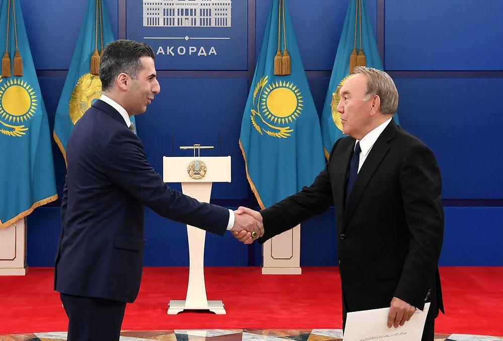 Мемлекет басшысы сенім грамоталарын қабылдау рәсіміне қатысты