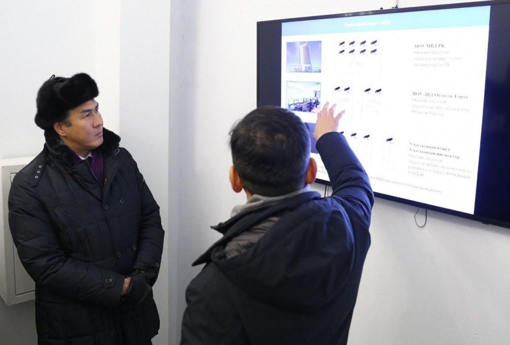 Заместитель Премьер-Министра РК Аскар Жумагалиев оценил работу системы облачного видеонаблюдения в Астане